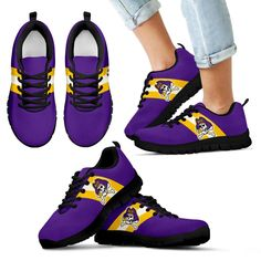 Three Colors Vertical East Carolina Pirates Sneakers – Best Funny Store