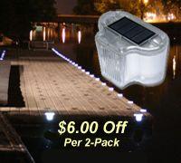 Solar Dock Lights for Ez-Dock Boat Docks