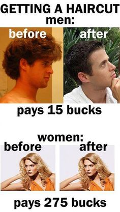 haircut: men vs. women