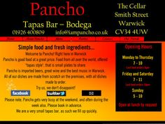 Pancho Tapas Bar Tapas Bar, Good Food, Easy Meals, Good Things, Quick Easy Meals, Easy Dinners, Clean Eating Foods, Eating Well, Yummy Food