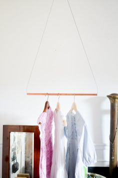 Items similar to Made to Order Copper metal Pipe garment rack. industrial modern geometric triangle boutique rack on Etsy Minimalist Home Furniture, Minimalist Home Decor, Minimalist Interior, Minimalist Living, Minimalist Bedroom, Minimalist Kitchen, Modern Minimalist, Cool Ideas, Metal Pipe