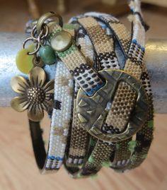 Multi Wrap Woven Cotton Cord Bracelet Six Wrap by ToZenAndBack
