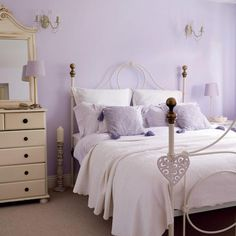 Etonnant Lilac Bedroom Ideas In Soft Shade  Like The Wall Color