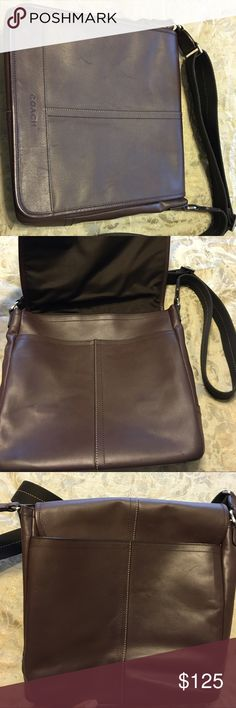 Coach Brown Leather Book Bag Brown Leather Coach Book Bag. Can be used as a computer bag as well Coach Bags Laptop Bags