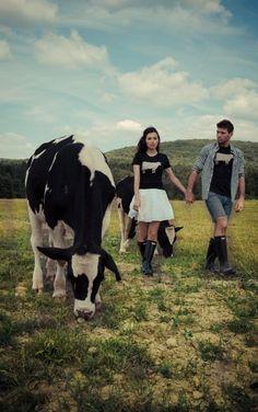 "Image of *LIMITED EDITION* GIRLS JOHN BARTLETT + FARM SANCTUARY ""AMBASSADOR COLLECTION"" COW TEE"
