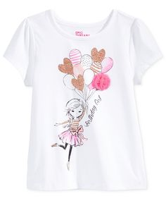 Epic Threads Mix and Match Birthday Girl Graphic-Print T-Shirt, Toddler & Little Girls (2T-6X), Only at Macy's - Toddler Girls (2T-5T) - Kids & Baby - Macy's