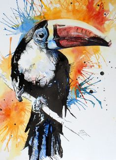 The animal world in watercolour
