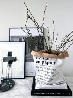 The Paper Bag the paper bag can also be used to cover an ugly plastic flower pot or even a vase. Image from decordesirefobeau The post The Paper Bag appeared first on Paper Diy.