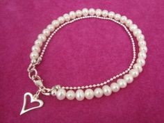 Stunning freshwater pearl and sterling silver by annagiles on Etsy,