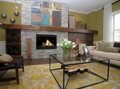 The family room of the Lafayette Square model home is the perfect place to spend cold days by a warm fire.