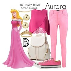 """""""Aurora"""" by leslieakay ❤ liked on Polyvore featuring Boohoo, Miss Selfridge, Converse, Eternally Haute, Kenneth Jay Lane, Lord & Taylor, disney, disneybound and disneycharacter"""