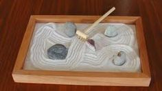A table-top Zen garden...amazing how this can soothe!