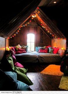 good idea for an attic nook