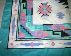 Boho Scarf Hippie Aztec Turquoise Pink Cotton blend Gypsy Indian - Edit Listing - Etsy