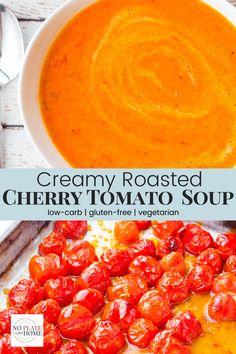 Easy Tomato Soup Recipe, Fresh Tomato Soup, Roasted Tomato Soup, Easy Soup Recipes, Cooking Recipes, Recipes With Tomato Soup, Creamy Tomato Bisque Soup Recipe, Recipes With Fresh Tomatoes, Recipe Using Tomatoes
