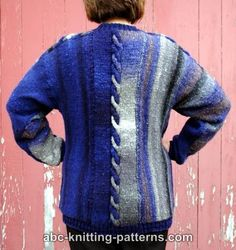 ABC Knitting Patterns - Night by the Fire Color Block Sweater