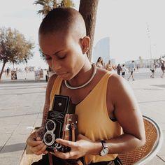 Photo - Black Girls With Beautifully Short Hair. Bold And The Beautiful, Beautiful Black Women, Black Power, Short Hair Cuts, Short Hair Styles, Bald Head Women, Bald Look, Girls With Shaved Heads, Twa Hairstyles