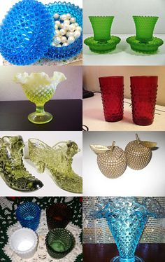 Hobnail glass--Pinned with TreasuryPin.com