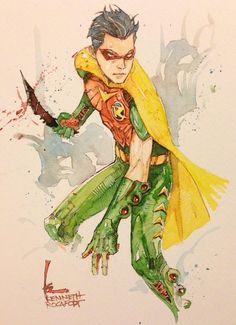 Jason Todd as Robin by Kenneth Rocafort