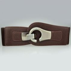 Classic Wide Solid Color Waist Belt For Women