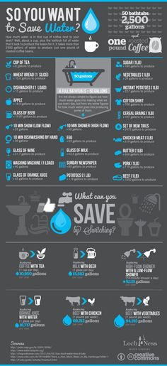 You Want to Save Water? Infographic Wow! I didn't expect any of that.