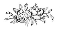 """Love this Black Classic Flower Tattoo, Set of two Watercolor Flower Design Tattoos, Momentary Physique Artwork Stickers, Measurement - three"""" x 6"""""""