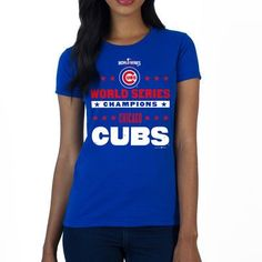 9b74907c0c9 Rep your 2016 World Series Champions in this Chicago Cubs SustainU  Americana Crew Neck T-Shirt. Crisp graphics let everyone know how proud you  are to be an ...
