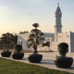 Marble Stone planters embellish the Park of Al Bidda in Qatar. Beautiful Park, Beautiful Homes, Stone Planters, Street Furniture, Marble Stones, Flower Boxes, Mall, Mansions, House Styles