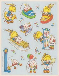 Rainbow Brite stickers
