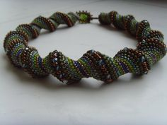 cellini spiral is one of my favorite stitches - i've made quite a few bracelets similiar to this