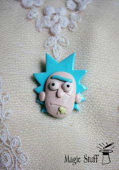 Rick and Morty Rick badge Rick pin Rick Sanchez pin Rick Sanchez badge Rick…
