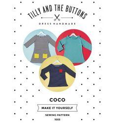 """Le patron de couture de Tilly and the button idéal pour débuter à coudre du jersey """"Coco"""""""