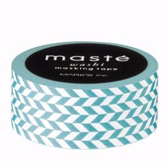 Maste Washi Tape - Nostalgic Light Blue Pattern