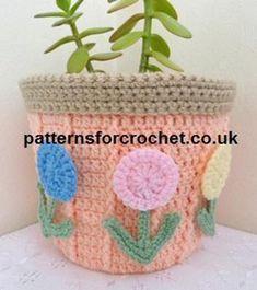 pfc239-Plant Pot Cover crochet pattern   Craftsy  free pattern