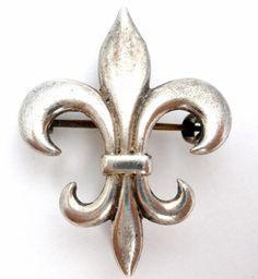Victorian Fleur de Lis Brooch Sterling Silver Lapel Pin Antique Vintage Jewelry | Jewelry & Watches, Vintage & Antique Jewelry, Fine | eBay!