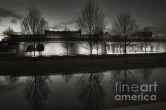 Piano Pavilion Bw Reflections - photograph by Joan Carroll  fineartamerica.com  #renzopiano #architecturephotography