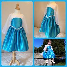 Queen Elsa princess Frozen inspired dress costume party cape girls size 3 4
