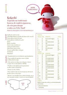 Kokeshi Christmas Angel free crochet pattern