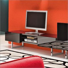 Seattle TV Seattle #TVEntertainmentunit with 2 drawers (push-pull system) and open space for DVD and Cable box (glass shelf). Available in Glossy White lacquer or Black lacquer with a choice of front finishes (Glossy White, Glossy Black, Wenge or Walnut). Chromed legs. #MadeinItaly.  #miami #modernfurniture #contemporary #furniture #interiordesign #design #style #stylish #indoor #livingroom #tvstand #homedecor #decor #aventura #home #decorideas