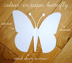 Quick kids craft: paper butterfly {with template}