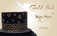 Gold Leaf Wafer Paper Overlay Tutorial Indian Cake, American Cake, Wafer Paper, Fondant Cakes, Gold Leaf, How To Make Cake, Spray Bottle, Cookie Decorating, Overlays