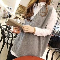 Loose Fit V-Neck Knit Vest from #YesStyle <3 QZ Lady YesStyle.com