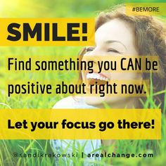 What we focus on empowers us! We partner with it! Focus on something positive today! #BEMORE