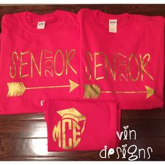 A gift shoppe with monogrammed unique items offering vinyl personalization. Senior Day, Senior Trip, Senior 2018, Cheer Gifts, Grad Gifts, Monogram Shirts, Vinyl Shirts, Senior Tshirts, Vinyl Designs