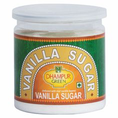 Goodness of sugar infused with Vanilla beans. #pinit #vanilla #icream #choclate #flaovred Vanilla Beans, Vanilla Sugar, Vegan Sugar, Sugar Substitute, Organic Sugar, Coffee Cans, Food, Essen, Meals