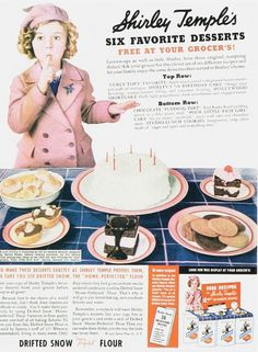 Shirley Temple's 6 favorite desserts