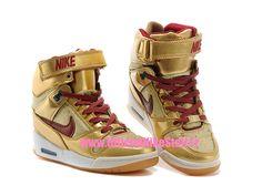 online retailer 8bfe0 433c7 Nike Air Revolution Sky Hi BHM (Black History Month) GS - Chaussure  Montante Nike Pas Cher Pour Femme Metallic Or Deep Cardinal-Gamma Bleu  649460-700