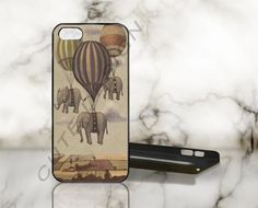 ELEPHANTS Balloon - Print on Hard Cover - iPhone 5 Case - iPhone 4 / 4s Case - Samsung Galaxy S3 case - Samsung Galaxy S4 case