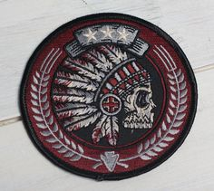 Tribal Headdress  3.5 Embroidered Patch by strawcastle on Etsy, $7.00