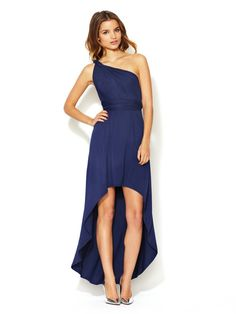 Tart Infinity Dress High-Low Infinity Dress: could be a cute bridesmaid style just not this color Wedding Bridesmaid Dresses, Wedding Attire, Bridesmaids, Blue Dresses, Short Dresses, Grad Dresses, Maxi Dresses, Jersey Knit Dress, Jersey Dresses